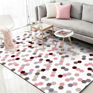 Wishstar nórdicos-de-rosa da manta Meninas Tapetes estilo princesa Crianças Carpet Tapetes Crianças cama do quarto retângulo tapete para Sala Cozinha