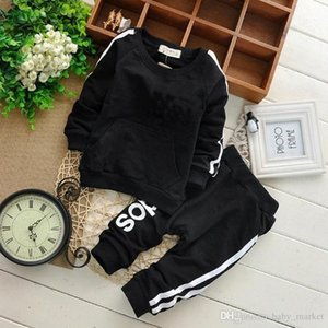 AG-006-1 Brand Baby Boys Girls Clothes Sets Autumn Casual Child Clothing Suits Sweatshirts Pants 2 Pcs Baby Sports Clothes S