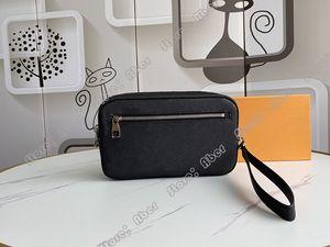 Excelentes Mens Kasai embreagem caixa de sacos de bolsa de couro genuíno das mulheres luxurys Designers Bolsas Kasai Bags Pulsos Bolsas Men Clutch Bag M41663