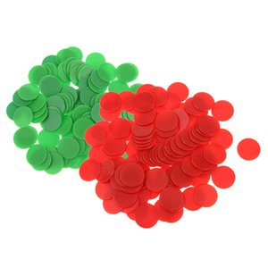 200PCS 18mm Plastic Counters Board Game Tiddly winks Teaching Aid Red Green