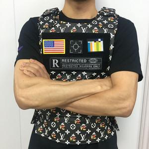 Новая мужская марка дизайнера Жилеты из моды ретро печати мотоциклов Vest Мужская хип-хоп Камуфляж джунгли армии поклонников тактический жилет оборудование