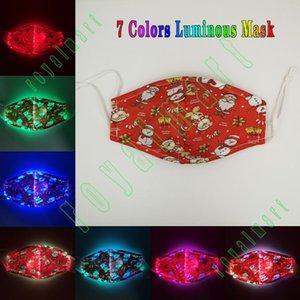 Natale creativo luminoso Maschera 7 di colore luminoso LED Maschera di Natale luminoso Maschera vacanze Masquerade Bocca copertina Carnevale