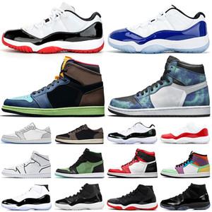 air jordan retro 11 1 11s 1s  Scarpe da basket 11s 1s Sneaker da uomo sportive da esterno da uomo color grigio Union Concord allevate da uomo