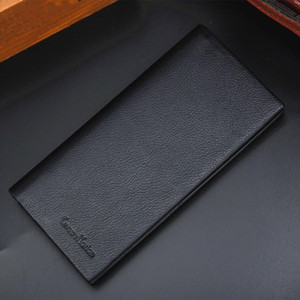 Top portable mens long solid color long wallet long section slim wallet credit card US dollar price