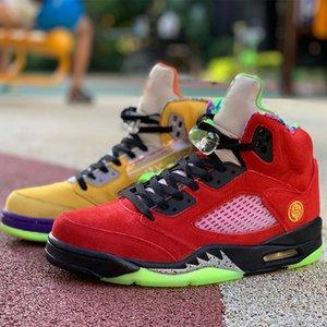 Lo Zapatos La 5S 3M baloncesto de alta calidad del Mens Tokio 23 zapatillas de deporte 5 SE Zapatos de la zapatilla de tenis naranja púrpura deporte láser CZ5725-700 EEUU 7-13