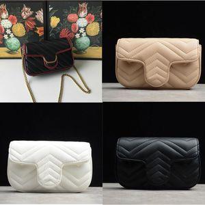 2020 heiße Frauen Marmont Messenger Bag Lange Kette PU-Leder-Entwerfer-Schulter-Beutel-Antike Goldkette Taille Handtaschen Totes BWIN #