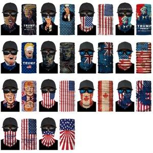 Fashion 2020 US Election masks Trump masks 3D digital printing Magic scarf multi functional outdoor mask neck band Designer Masks ZJ00129