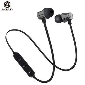 Fone de ouvido Bluetooth Magnetic Esporte Wireless Headset Para Motorola Moto G8 G7 Poder E6 E5 G6 G5 Além disso Z4 Z3 Z2 Play With Microphone