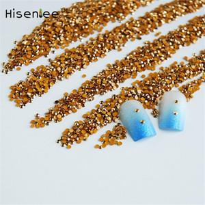 SS6 Jelly ouro Hematita / Aurum 2 milímetros de cristal Facetas de Resina Plano Voltar Rhinestones Nail Art Doce contas 2000pcs