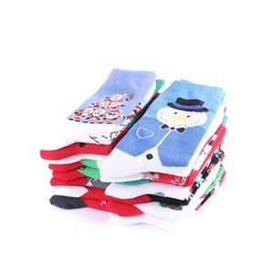 Winter Femmes Chaussette Rouge Christmas Chaussette Mignonne Dessin animé Elk Cerf Chaussettes Coton Gardez Chaud Baby Girl Garçon Soft Socks Ewc2110
