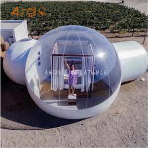 PVC-Material Aufblasbares klares transparentes Blasenzelt / hochwertiger aufblasbarer Blasenraum für Camping