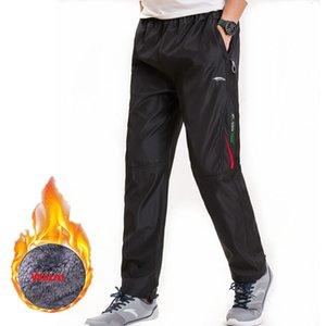 dos homens Super inverno quente Windbreaker Sweatpants lã grossa soltos calças cintura elástica corredores Moda calças para homens 3XL
