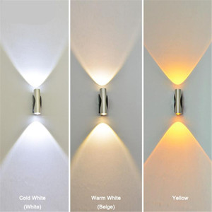 Indoor led wall light 6W Up Down aluminum sconce Living room Bedroom Bedside Stair Corridor Aisle Modern home decorate wall lamp