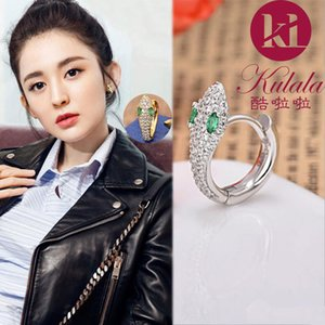 Zircon earring female explosive model exquisite personality snake earring female fashion domineering temperament Korean sexy snake ear trend