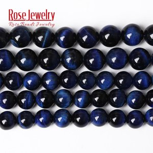 """Free Shipping 5A Quality Natural Stone Blue Lapis Lazuli Tiger Eye Agates Round Beads 15"""" Strand 4 6 8 10 MM for Jewelry Making"""