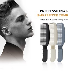 Anti-Skid Carbon Fiber Hair Cutting Guide Comb For Men Haircut Barber Professional Round Teeth Hair Clipper Comb