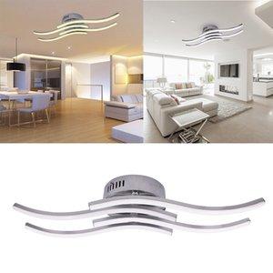 AC 85-265V 현대 LED 천장 램프 12W 18W 24W 알루미늄 물결 모양의 간단한 침실 거실 장식 천장 조명을 주도