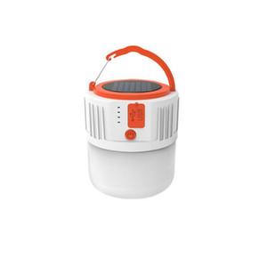 야외 하이킹 텐트 램프 휴대용 손전등 야시장 빛 태양 비상 조명 태양 광 LED 캠핑 라이트 USB 충전식 전구