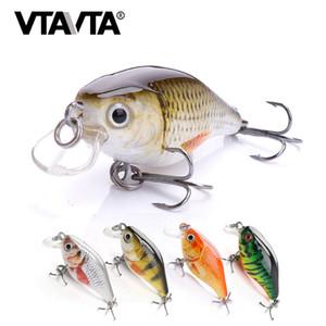 VTAVTA 2020 New Mini Top Water Fishing Lure 4cm 3.8g Black Minnow Wobblers Crankbait Fishing Tackle Pike Lure Jerkbait Hard Bait T200917