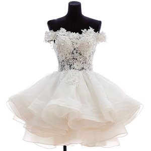 New Lovely Short Homecoming Dresses Sweetheart Flowers Organza Graduation Dresse Party Prom Formal Gown