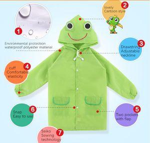Factory Direct Selling Hot High Quality Outdoor Children'S Cartoon Raincoat Waterproof Raincoat Waterproof Cute Style Students