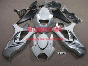 New injection fairings kit+7 Free gifts for SUZUKI K7 GSXR1000 GSXR 1000 07-08 SUZUKI GSXR1000 2007-2008 K7 bodywork #SILVER WHITE #E71Z7