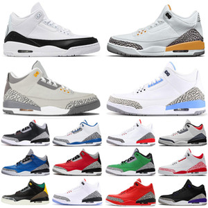 2020 new arrival 3 3s fragment jumpman men basketball shoes Black White Laser Orange Fire Red UNC mens trainers sports sneakers size 7-13