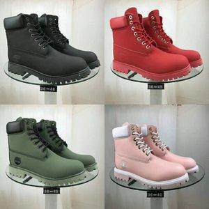 Novo estilo Hi-top preto de bezerro botas com Buckle Couro Borracha Soel quot; WeldedQuot; Construção da motocicleta Ankle # 635