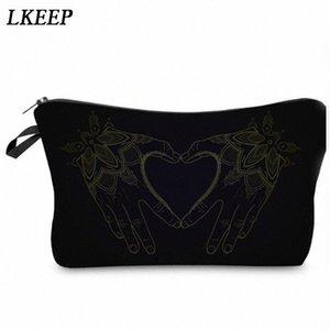 2019 Love Heart Pattern Women Clutch Cosmetic Bag Make Up Organizer Fashion Women Printing Multifunction Portable Makeup Bags CAoT#