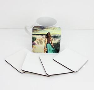 10 * 10cm di sublimazione Coaster vuoto di legno Table Mats MDF Isolamento termico a trasferimento termico Cup Pad fai da te Coaster w-00259