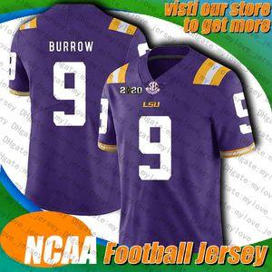 NCAA LSU Universidade 9 Joe Burrow 17 Ryan Tannehill 22 Derrick Henry Jersey 31 Kevin Byard 25 Adoree' Jackson Jerseys 77 Taylor Lewan