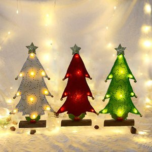 2020 Mini Christmas Tree with LED Light Christmas Ornaments Decorations for Home Party New Year Decorations