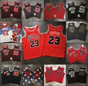ChicagoBullsMen Michael Jor dan Mesh Dennis Rodman Scottie PippenNBA Retro Basketball Jersey
