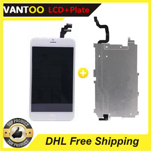 Premium A+++ LCD Display Touch Screen with Back metal plate preinstalled for iPhone 5 5s 6 6s Plus 7 8 Plus easy replacement