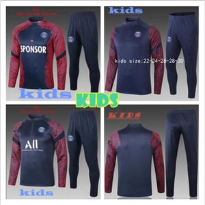 Paris agasalho terno novo 2020 KIDS Treinamento de futebol 2020 2021 CAVANI maillot pé Hoodie criança kit jaqueta de Sportswear