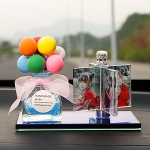 Rotat Windmill Photo Crystal Photo Frame Personalize Family Picture Car Decoration for Friend Wedding Souvenir Gift