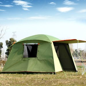 Rainproof Double Layer Outdoor Sun-shading 4Corners Garden Arbor Multiplayer Party Camping Tent Awning Shelter Sun Shelter