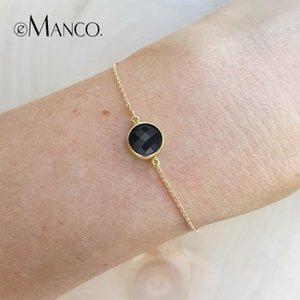E-Manco Charm Bilezikler İçin Kadınlar Altın Renk Ayarlanabilir Zinciri Bilezikler Vintage Lüks İki Renk Femme Moda Takı