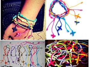 Nodo Bracciali Christian Crosses braccialetto tessuto fatto a mano gioielli coda Rosario Nylon Nylon forniture incrociate corda cattolica Diy Maria bbyYs