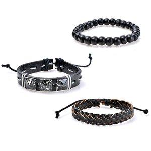 DIY Charm Bracelets multilayer PU leather Bracelets Hot sale bead bangle fashion Bracelets