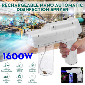 New pattern Blue light nano spray gun disinfection spray gun charging Wireless X10 handheld nano disinfectant sprayer