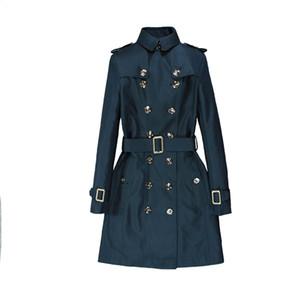 Herbst New England Stil Klassisch zweireihige ewige klassische Serie High-End-Trenchcoat Frauen nehmen Geschäfts-Outwear weiblich
