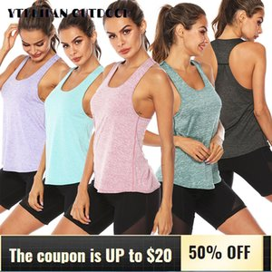 2020 Yoga Vest Sleeveless Sports Top for Running Fitness Training Women Shirts Workout Tops for Gym Yoga Underwear Quick Dry