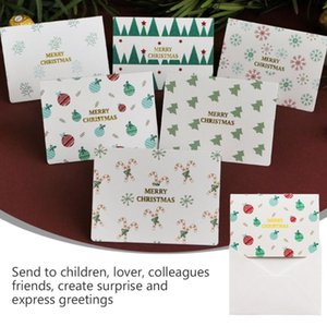 12 Pcs Christmas Greeting Cards Printing Merry Christmas Holiday Message Blessing Card Gift Card