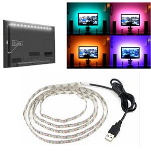 Faixa de LED USB lâmpada 2835SMD DC5V LED flexível Tape luz fita 1M 2M 3M 4M 5M HDTV TV desktop Tela de iluminação Backlight Viés