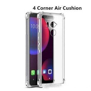 Amortiguador de aire a prueba de golpes caso para HTC U11 U12 Plus Vida Ojos Google Pixel 2 3 XL de silicona cubierta del teléfono para HTC T Juego U caso ultra