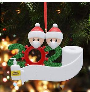 в наличии Рождества 2020 Нового Рождества кулон маска для лица снеговика Ношения маски семьи рождественских украшений Survivor подарков