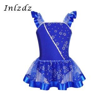 Ballet Leotard Dress for Kids Girls Gymnastic Swimsuit for Dancing with Skirt Ballerina Tulle Dancewear Children Leotard Costume