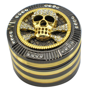 52мм Алмазного Херб Grinder Дизайн животных шаблон Tobacco специи Muller дробилка Grinder 4 слоя металл Измельчители Курение морской GGA3716
