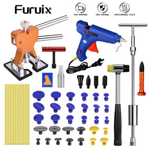 FURUIX PDR Tool Paintless Dent Repair Puller Lifter Glue Gun Line Board Car Removal Kit